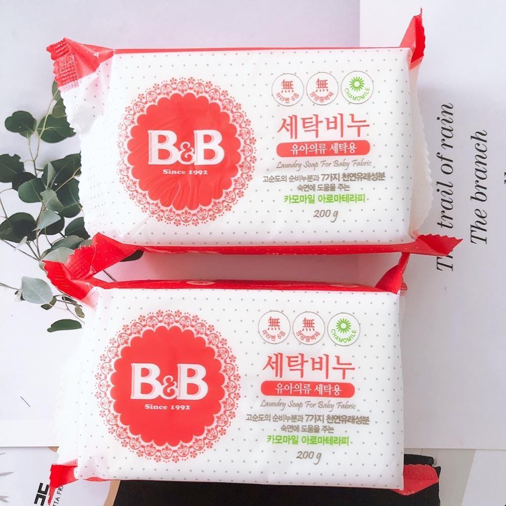 5块B&B保宁韩国婴儿洗衣皂宝宝儿童保宁皂bb皂肥皂洋甘菊香皂200g