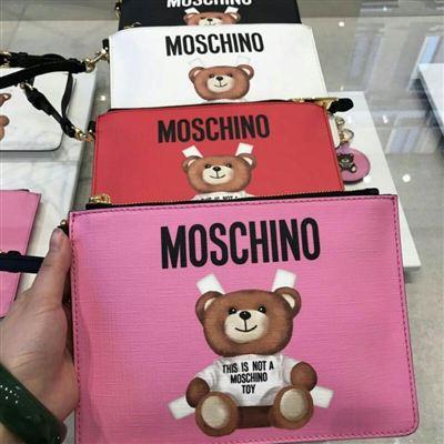 Moschino莫斯奇诺 小熊手拿包 多色可选