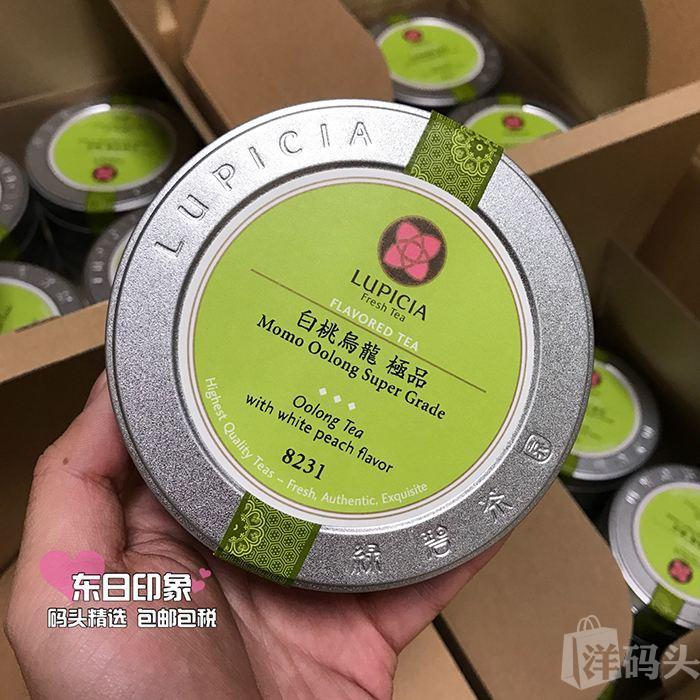 「TI」日本拼邮lupicia绿碧茶园人气白桃乌龙茶 袋装/罐装 50g