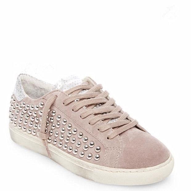 G/國内特价 Steve Madden思美登 浅粉色 休闲脏脏鞋 柳钉 7.5码