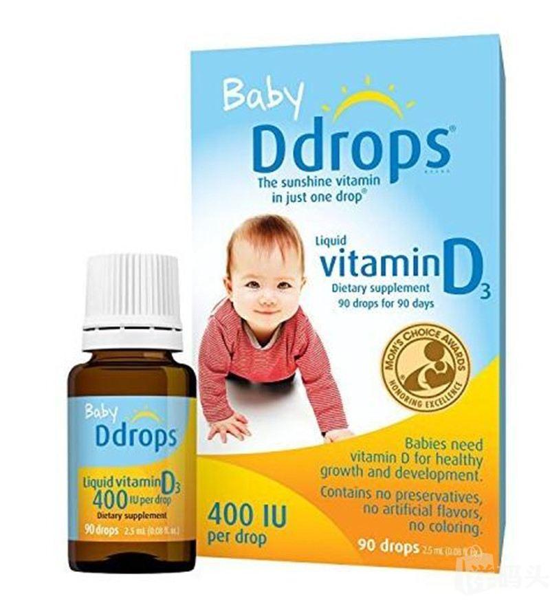 Baby Ddrops 维生素D3 400 IU 90滴