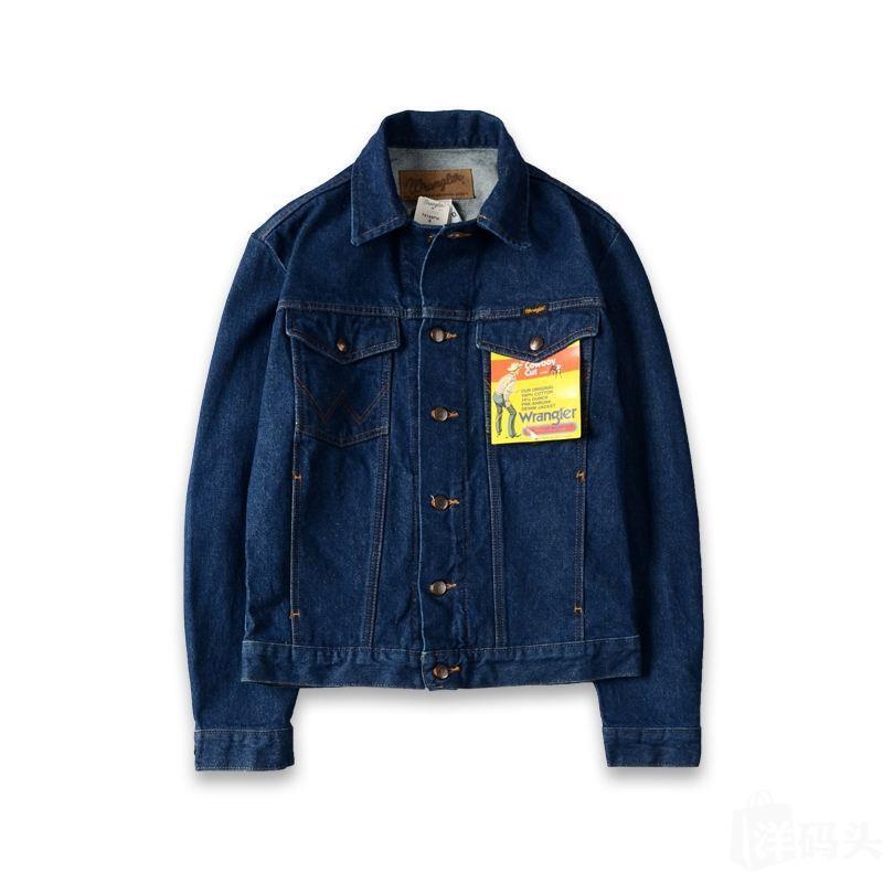 Wrangler威格牛仔外套男士纯棉翻领长袖男款宽松上衣春秋季潮夹克