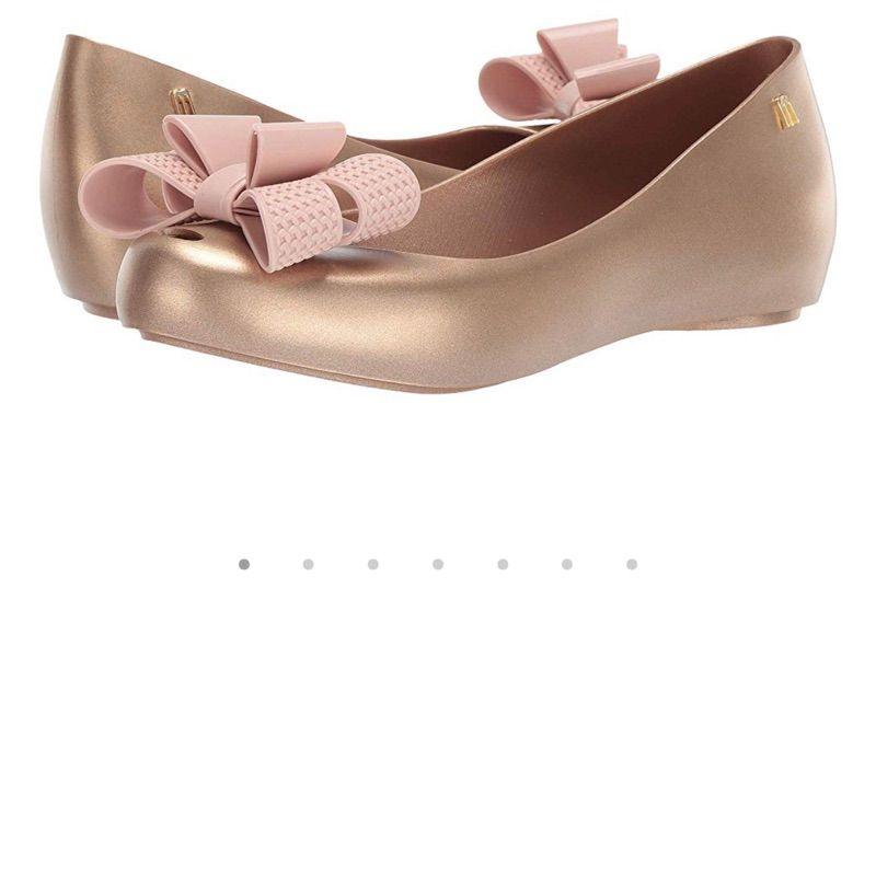 Melissa梅丽莎女士蝴蝶结一脚蹬果冻单鞋船鞋