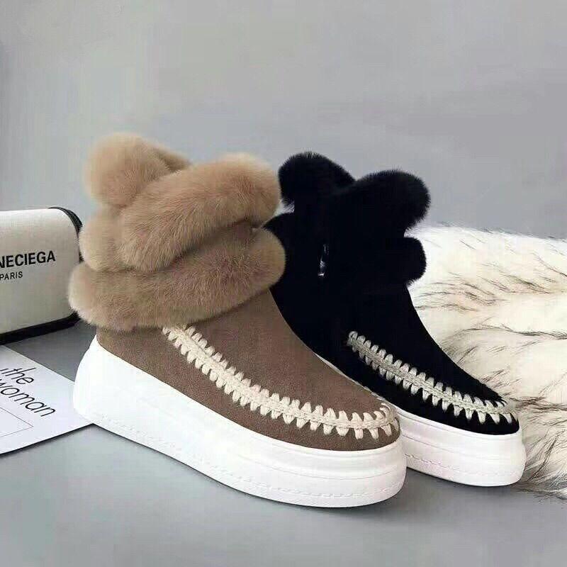 【新款】custom牛反绒厚底雪地靴/棉靴/短筒靴子