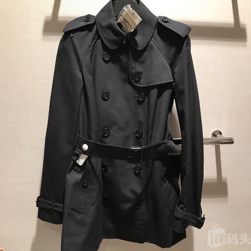burberry 巴宝莉 经典女士 短款风衣 外套 黑色