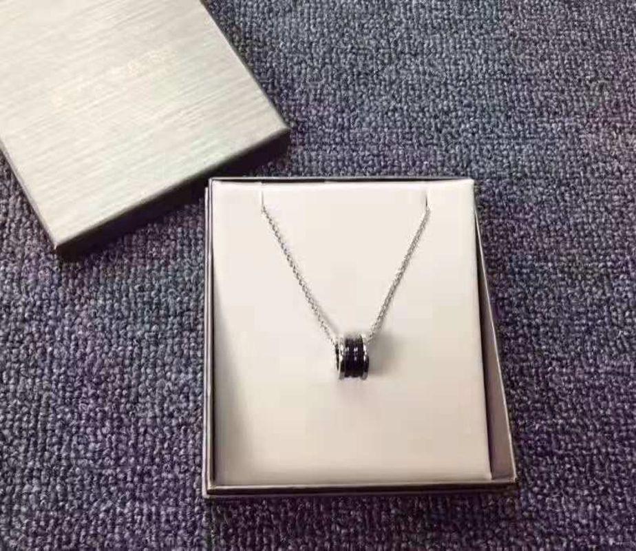 BVLGARI/宝格丽 明星同款慈善款纯银陶瓷项链