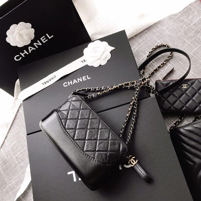 【欧洲正品】Chanel/香奈儿牛皮斜挎链条包手拿包MINI流浪包WOC