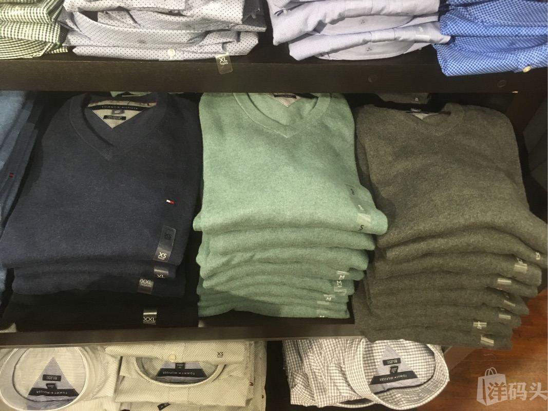 Tommy hilfiger 汤米男士V领纯棉毛衣针织衫 多色可选