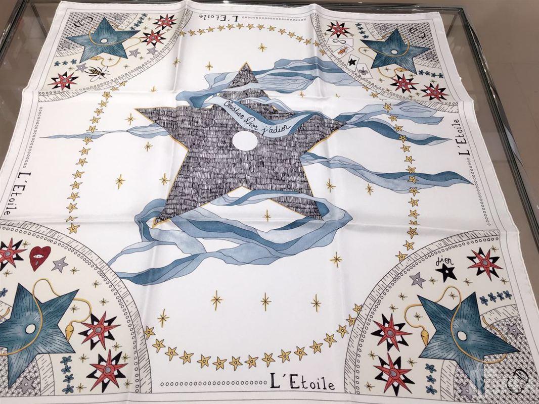 dior迪奥塔罗牌图案印花丝巾围巾