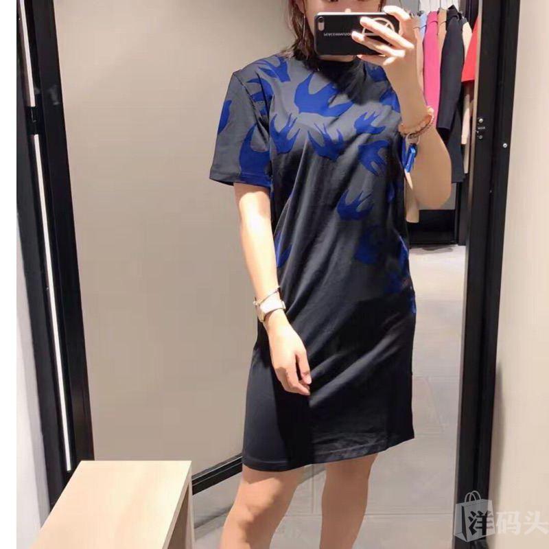 MCQ麦昆丝绒燕子女士 短袖长裙连衣裙M8