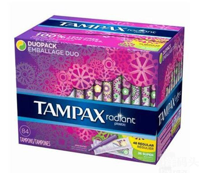 丹碧丝Tampax Radiant光芒塑料长导管卫生棉条84支