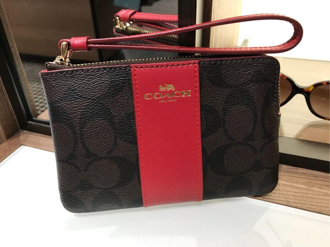 Coach/蒄驰小手袋 新款全拉链女士零钱包