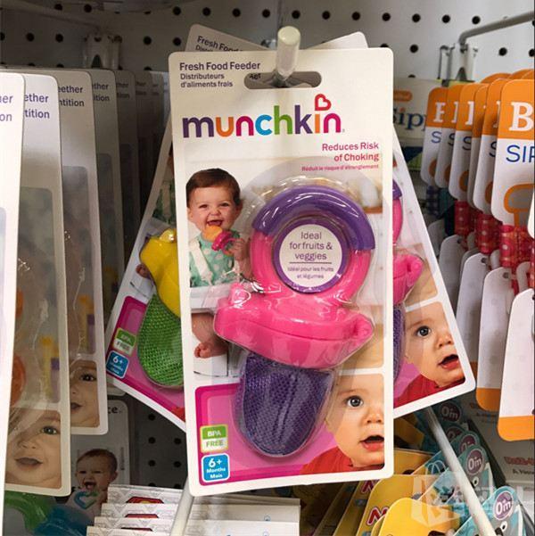 麦肯齐munchkin 水果食物咬咬袋 出牙吃辅食必备 单只装