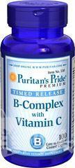 Puritan's Pride复合维生素B族+维生素C 抗疲劳增免疫