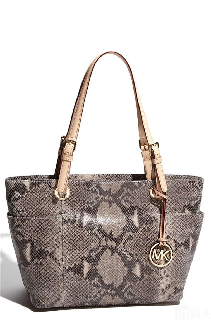 Michael Kors Jet Set 真皮蟒纹肩包