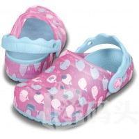 Crocs 卡洛驰魔术变色鲸鱼宝宝女童夏天洞洞鞋凉鞋 变色 紫红色