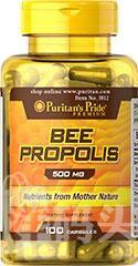 美国蜂胶Puritan's Pride Bee Propolis 500mg100 粒