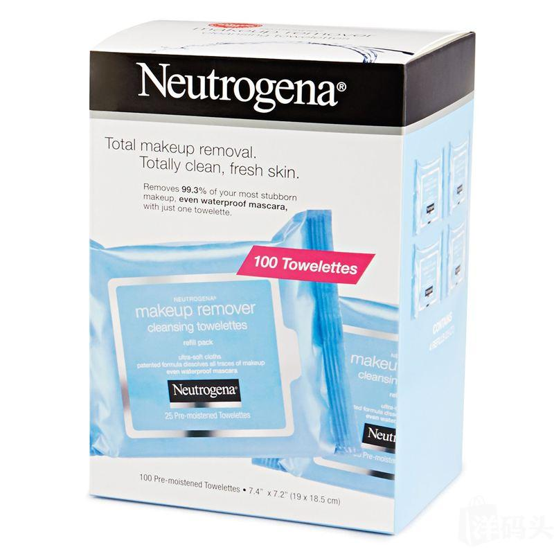 Neutrogena Makeup Remover Cleansing Towelettes 100张