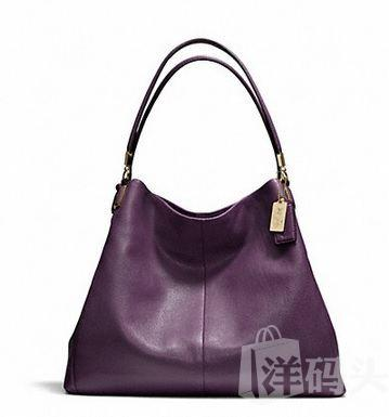 蔻驰MADISON PHOEBE SHOULDER BAG INLEATHER大号三口单肩包24621