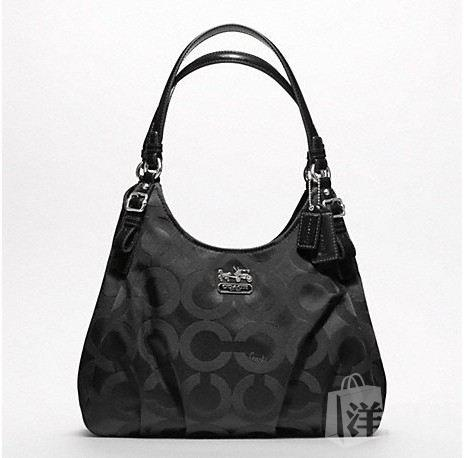 蔻驰 MADISON OP ART SATEEN MAGGIE SHOULDER BAG_F17689