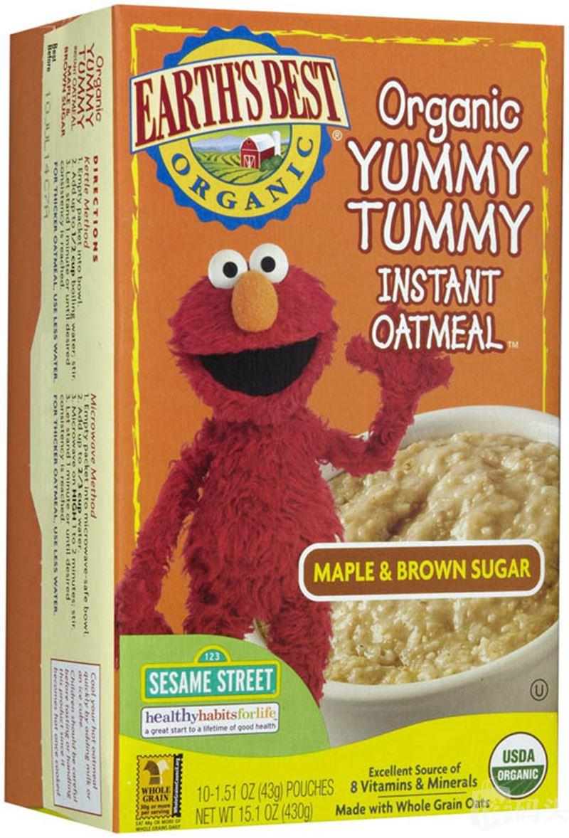 美国地球最好世界最好Earth's Best宝宝早餐有机速溶燕麦片枫糖味