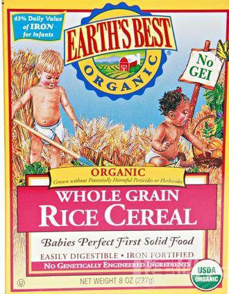 Earth's Best 世界地球最好婴幼儿营养纯米粉一段 有机高铁 227g