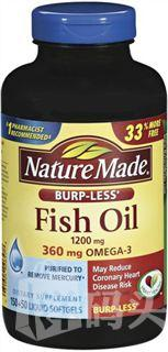 Nature Made Fish oil 深海鱼油 Omega-3 1200mg 200粒