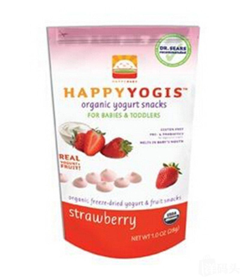 禧贝HappyMelts有机草莓酸奶小溶豆 28g