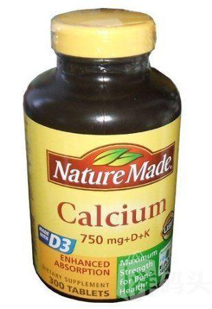 Nature Made钙片维生素D+K 750mg300粒 孕妇补钙佳品