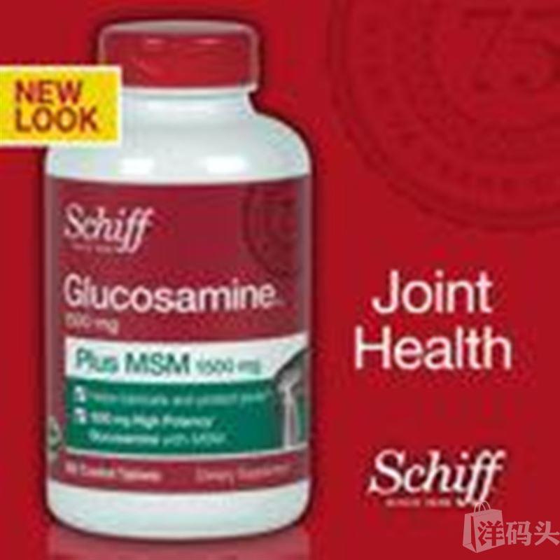 美国直邮Schiff Glucosamine MSM氨基葡萄糖氨糖维骨力200粒