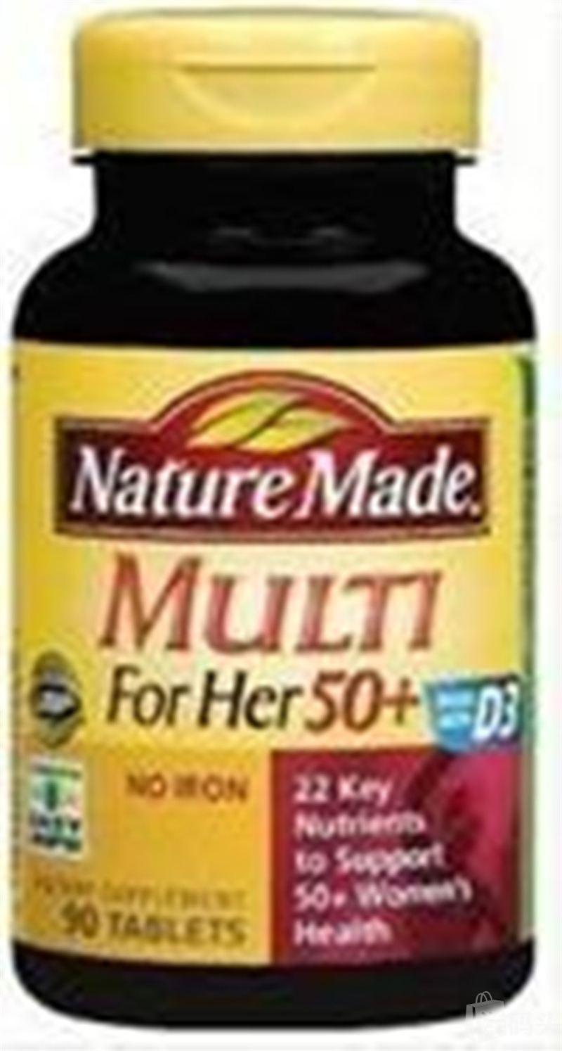 美国直邮包邮NatureMadeMulti ForHer 50+女性复合综合维生素90粒
