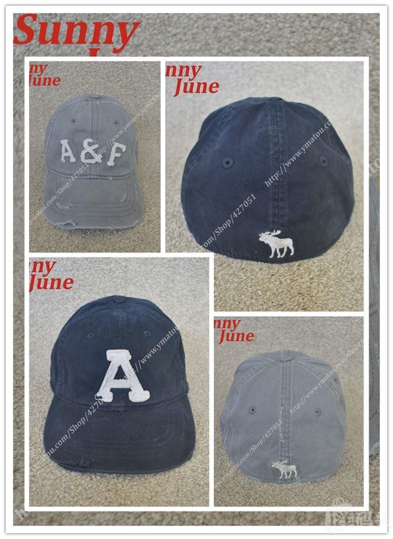Abercrombie&Fitch VINTAGE BALL CAPS AF 字母 小鹿LOGO 棒球帽