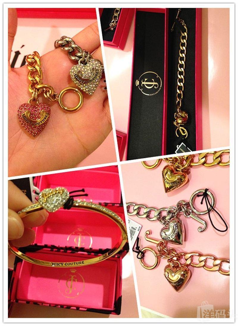 Juicy Couture各种甜美桃心手链/手镯 多款多色 带精美礼盒