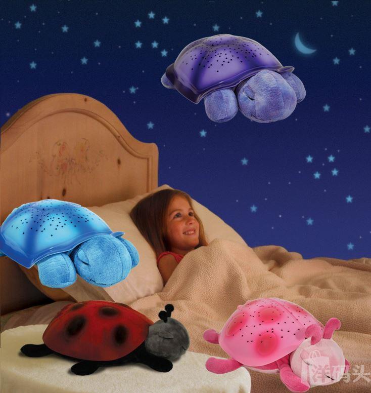 美国Cloud B 安睡灯/星空夜灯/投影灯 宝宝玩具乌龟/瓢虫