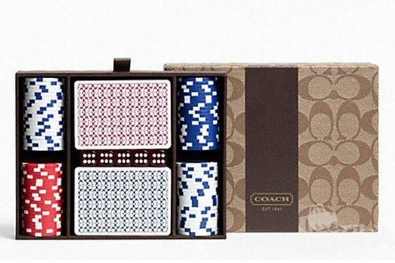COACH HERITAGE STRIPE POKER SET扑克牌套装 F63429