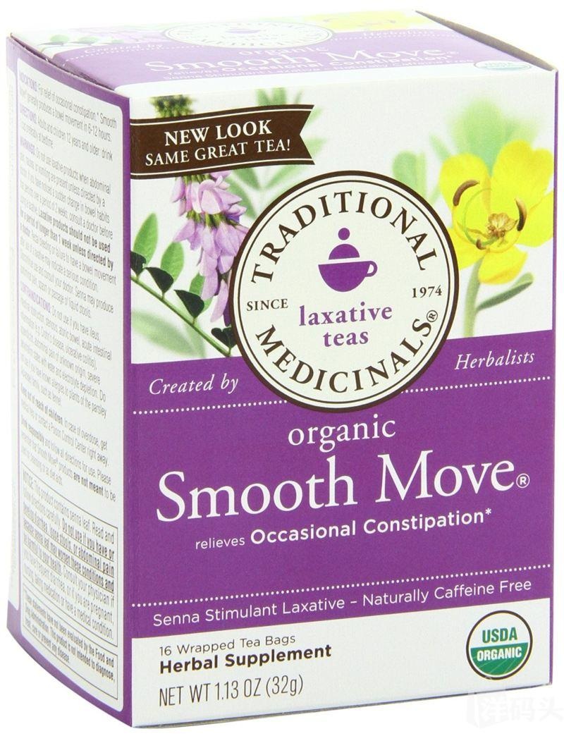 Traditional Medicinals Organic Smooth Move 有机通便茶 16包