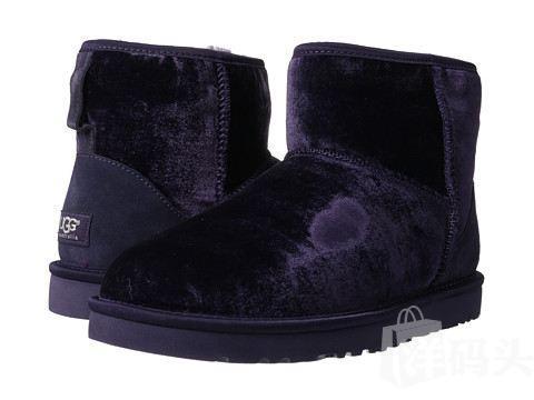 美国包邮!UGG Classic Mini Velvet  紫色—— US06