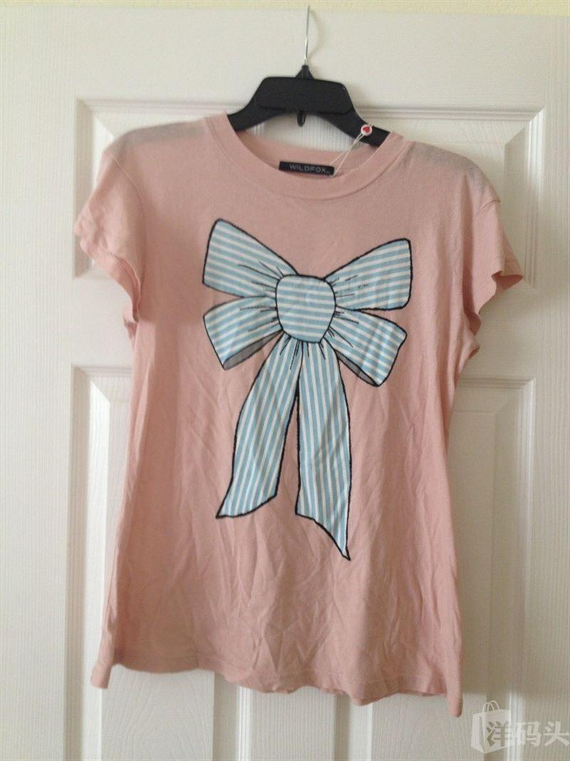 wildfox 大蝴蝶结女士短袖T恤