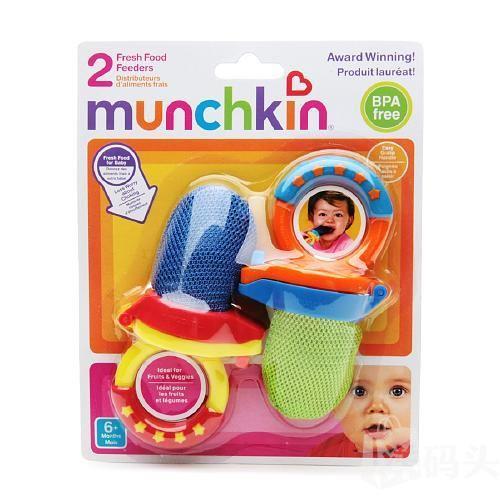 美国直邮 Munchkin麦肯齐新鲜食物咬咬袋2个装 出牙吃辅食必备 装蔬菜水果