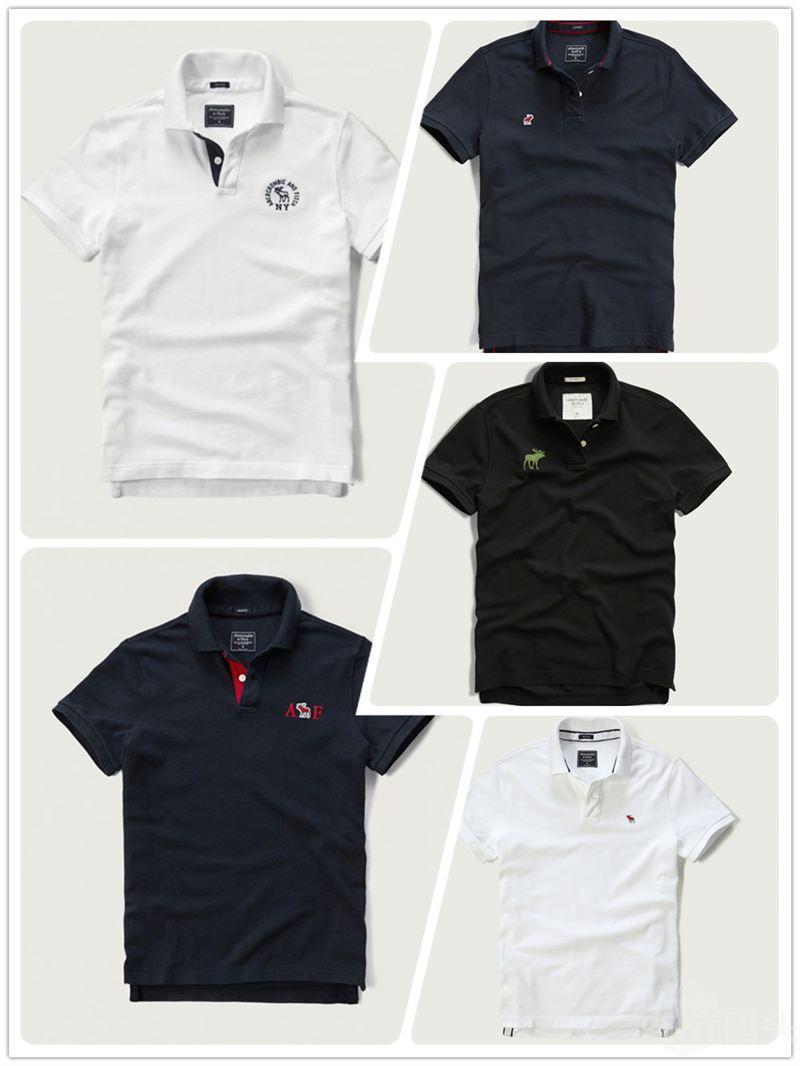 Abercrombie & Fitch 男装 AF 经典 polo 短袖 小鹿刺绣logo
