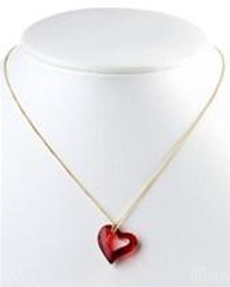 美国直邮包关税Swarovski施华洛世奇红水晶/黄水晶心形项链女饰品