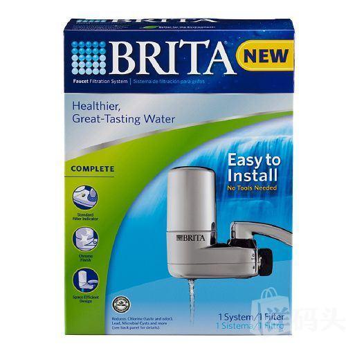Brita 碧然德 水龙头净水系统 (带一个滤芯) 银灰色装