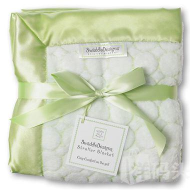 包邮包税美国【SwaddleDesigns】泡泡圈珊瑚绒婴幼儿推车毯