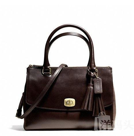 蔻驰 PINNACLE HARPER TRIPLE ZIP SATCHEL IN POLISHED_F25316