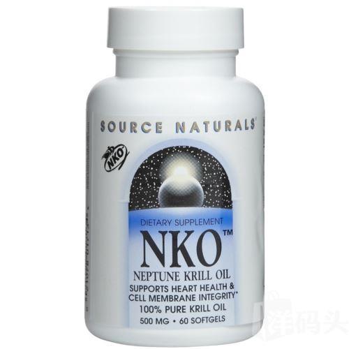 Source Naturals北极磷虾油提高免疫力增加记忆力500毫克60粒
