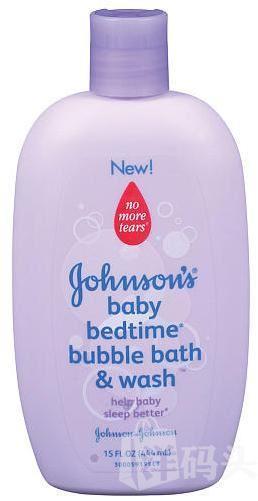 美国Johnson's 强生婴儿舒眠睡前泡泡浴保湿沐浴露无泪