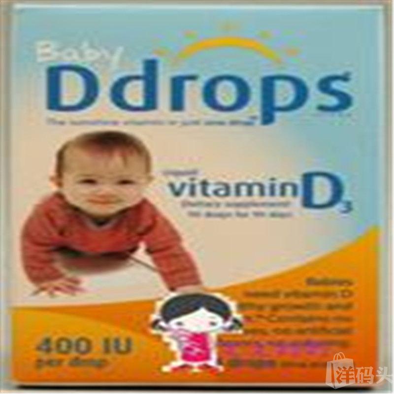Baby Ddrops婴儿维生素D Drops D3滴剂 400IU 90天量 加拿大版