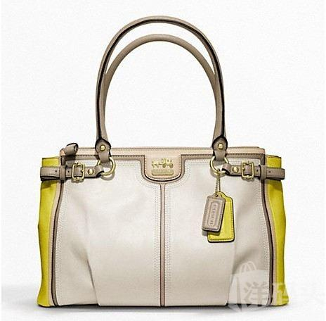 蔻驰 MADISON COLORBLOCK KARA CARRYALL_STYLE   F22701