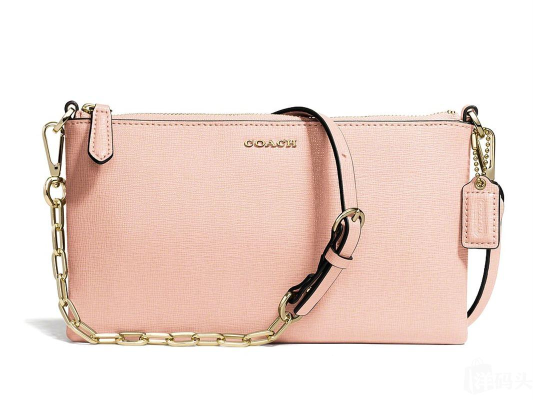 COACH  Saffiano Leather Kylie Crossbody 粉色挎包 8309263