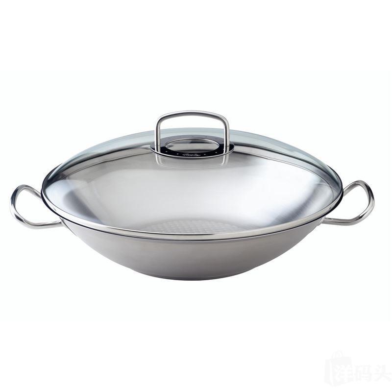 菲仕乐 original-profile 中式大炒锅 玻璃锅盖 35cm 5.3l德国造